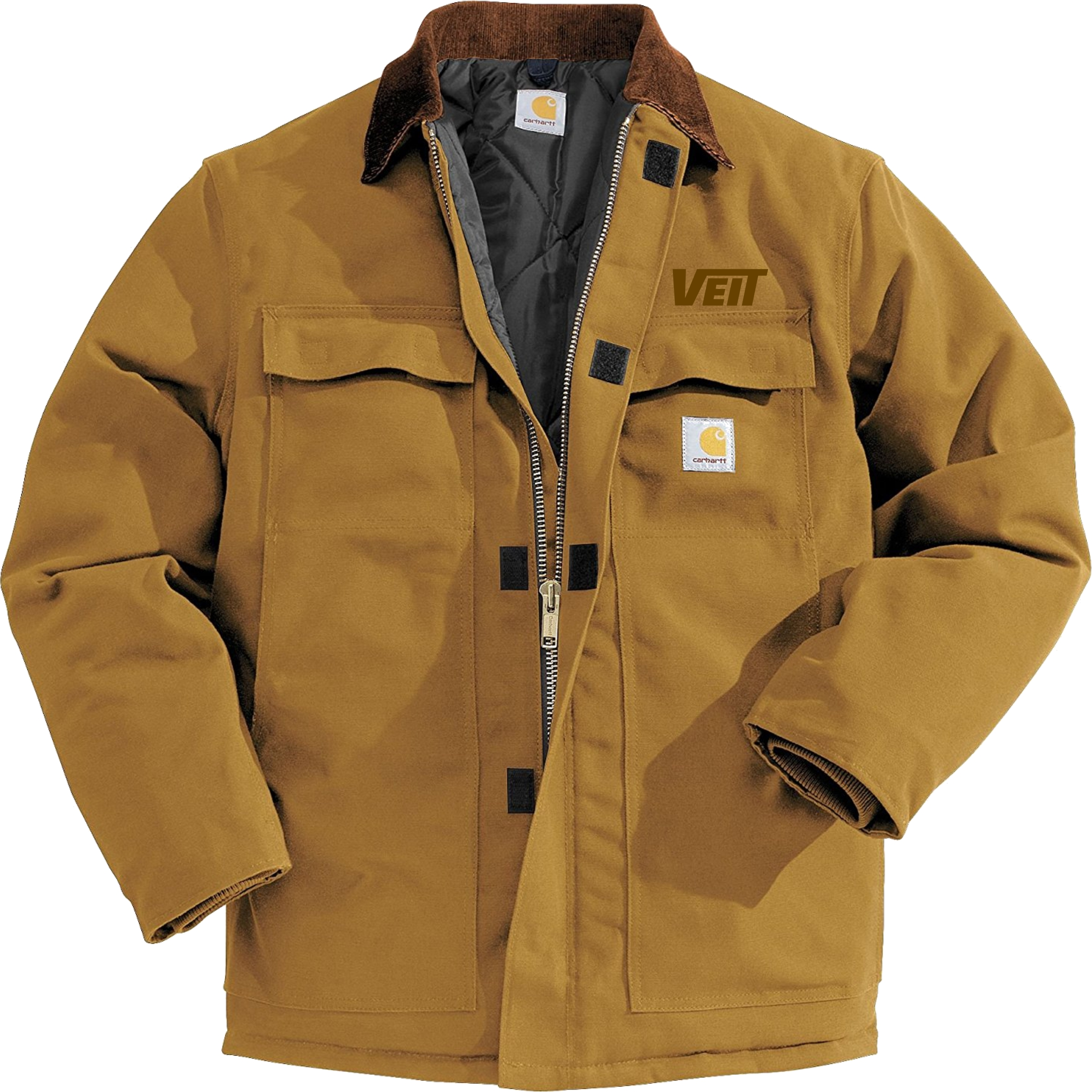 Carhartt Duck Traditional Coat Arctic Quilt Lined